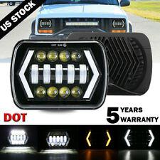 "1PC 7x6"" 5x7"" inch LED Headlight DRL Turn Signal For Toyota Nissan Pickup Truck"