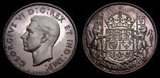 Canada 1945 50 Cents King George VI Choice Toning BU