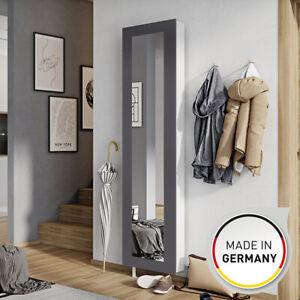 Drehschuhschrank Schuhschrank Schuhablage Spiegelschrank 50 x 195 x 18 cm Grau