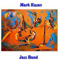 JAZZ BAND   Large Abstract Modern Original Oil Painting by Mark Kazav VYV986R