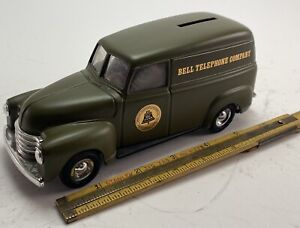 New Ertl Bell Telephone Company Bank Truck Army Green American Telegraph Co 9203