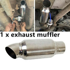 """89mm 2.5"""" Inelt 2.5"""" Outlet Car Stainless Steel Exhaust Muffler Resonator Parts"""
