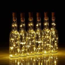 Bottle Stopper Fairy String Lights Wine Battery Cork Shaped Party Wedding 10PCS