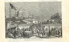 Stampa antica NIZHNY NOVGOROD Fiera Russia 1889 Antique print античный печать