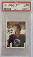 1982 1983 TOPPS STICKERS Dale Hawerchuk PSA 10 RC ROOKIE GEM MINT #204 Jets