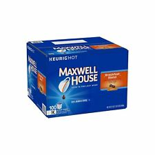 Maxwell House Breakfast Blend Coffee K Cups 100 ct Single Serve Packs Keurig