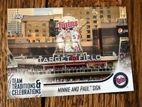 Minnie and Paul Sign Twins 2018 Topps Opening Day Team Traditions Celebrations