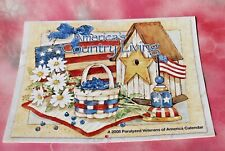 America's Country Living Illustrated 12 month Calendar, 2008 Free Shipping!