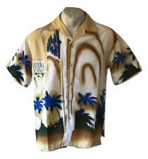 Camicia da uomo Estiva Maglia Unisex Hawaiana Estiva Manica corta Palme Size M