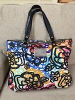 Coach Poppy 15591 Graphic Blossom Applique Grafitti Shoulder Bag Glam Tote Purse