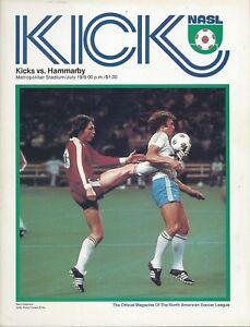 1977 Minnesota Kicks vs Hammarby (Sweden) NASL Soccer Exhibition Program - #FWIL