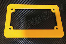 YELLOW MOTORCYCLE scooter blank plastic License Plate Frame