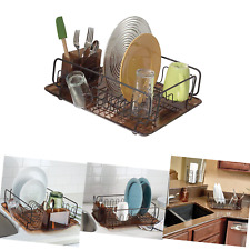 InterDesign Forma Kitchen Dish Drying Rack with Tray – Drainer for Drying Gla.