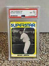 1980 Superstar #31 - MICKEY MANTLE - PSA 8 NM-MT - YANKEES