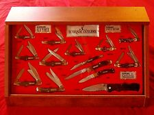 Schrade 14 Knife Display 1990's Uncle Henry & Old Timer W/Original Packages NOS
