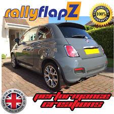 rallyflapz FIAT 500 (2007 qty4 PARAFANGHI KIT & finiture - nero 4mm PVC LOGO