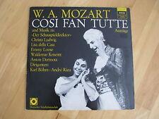 W.A. Mozart Cosi Fan Tutte & Musik Der Schauspieldirektor K.Böhm A.Rieu Vinyl