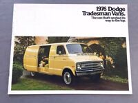1976 Dodge Tradesman Cargo Van Factory 12-page Sales Brochure Catalog