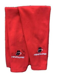 Hincapie Cycling Fleece Leg Warmers Size M Red Bicycle Cold Weather Fall Winter