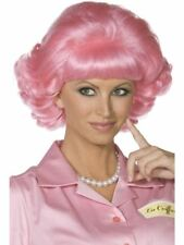 Smiffys Grease Frenchy Wig Female - Pink - One Size