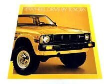 1979 Toyota 4-wheel-drive Pickup Truck 4wd Original Car Sales Brochure Catalog