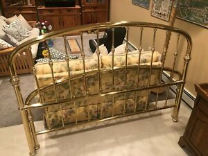 King Size Solid Brass Headboard and FootBoard Made in Italy