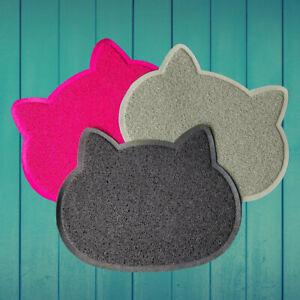 New Pet Feeding Mat Cat Shape Small Dog/Puppy/Cat/Kitten Food Bowl Place mat UK