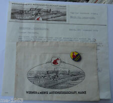 original  Erdal Kwak Abzeichen für Sammler mit Schriftverkehr Brief  Mainz