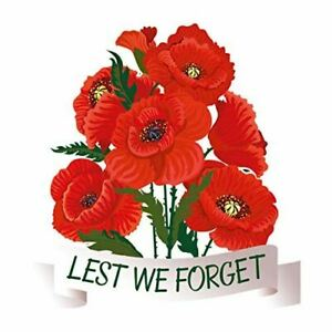 Lest We Forget Poppy Static Cling Window Sticker - Remembrance Day Poppy