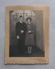 c1940s B/W Photograph. Registry Office Wedding. DESBOROUGH. Barrow (in Furness)