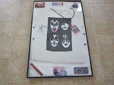 Kiss Signed 2012 Tour Bought XXL Tour Shirt W Ticket Stub Laminate 4 Picks ++