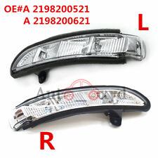 2X Front LH + RH Door Mirror Turn Signal Light For 07-10 Mercedes W211 W221 W219