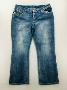 Maurices Womens Size 18W Bootcut Stone Wash Denim Jeans