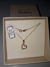 Collana veneziana cm 45 in oro giallo 750 18 kt e ciondolo cuore con zirconi NEW