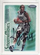 Kristin Folkl Minnesota Lynx Autographed Basketball Card