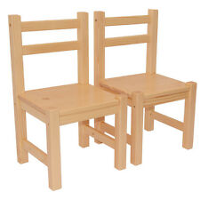 Children's Pine Wood Furniture Set of 2 Chairs Natural Varnished, 2nd Quality