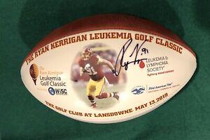 Ryan Kerrigan Autographed Full Size Wilson Football Redskins Photo