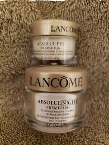Genuine Lacome Absolute Night Premium Bx Cream (Replenish & Rejuvenate) Eye Duo