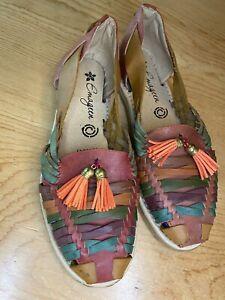 huaraches mexican women shoes
