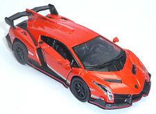 Lamborghini Veneno orange ca. 1:36 Sammlermodell 12,5cm Neuware von KINSMART