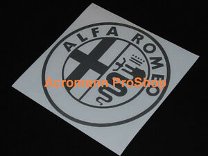 "2x 5.5"" 14cm Alfa Romeo round Decal Sticker GTA GTV 159 156 147 145 Giulietta 75"
