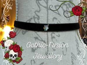Colourful Pretty UNICORN Black Velvet Choker Collar Necklace Victorian Gothic