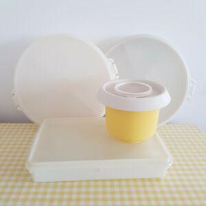 Vintage Retro Tupperware Plastic Container Storage Baking 60s 70s Job Lot