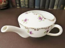19th c  Victorian Porcelain Feeder / Invalid Cup - Violet & Gilt Decoration