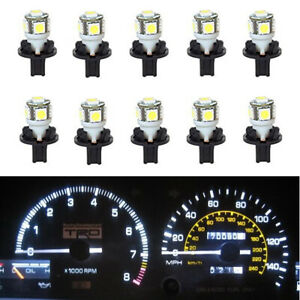 10x White T10 PC168 194 W5W  Light Instrument Cluster Gauge Panel LED Bulb 12V