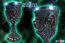 1x Mother Maiden Crone Alter Chalice Wine Goblet Celtic Pagan Wicca Triple Moon