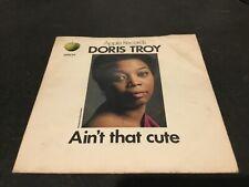"Doris Troy Ain't That Cute Vinyl 7"" P/S Single APPLE 24 1970 Northern Soul 1U"