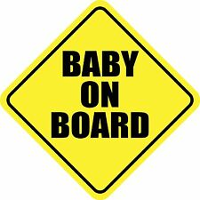 """BABY ON BOARD Magnet Sign 5.8""""x5.8"""" Made in USA Buy 2, Get 3rd FREE"""