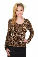 Women's Leopard Print Vintage 50's Retro Rock Rockabilly Cardigan Banned Apparel