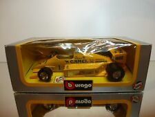 BBURAGO 6107 LOTUS HONDA TURBO #1 CAMEL- F1 YELLOW 1:24 - GOOD CONDITION IN BOX